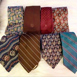Lot of 8 Christian Dior ties GUC